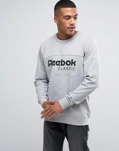 Серый свитшот с круглым вырезом Reebok Archive BK3832 - Серый