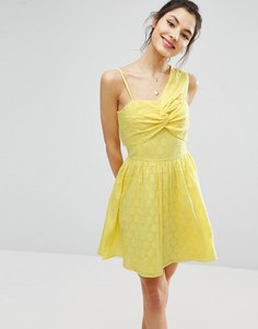 Платье мини на одно плечо ASOS - Желтый