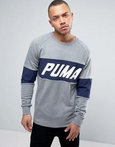 Серый свитшот колор блок с круглым вырезом Puma 572424 04 - Серый