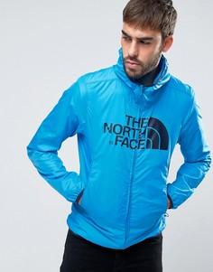 Синяя куртка с капюшоном и логотипом The North Face - Синий