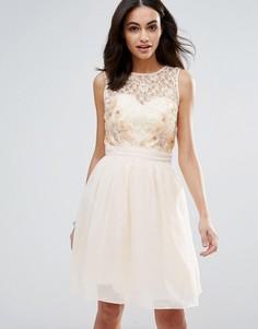 Кружевное платье для выпускного Little Mistress - Белый