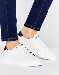 Белые кроссовки на шнуровке Tommy Hilfiger - Белый