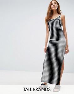 Трикотажное платье макси в полоску Vero Moda Tall - Мульти