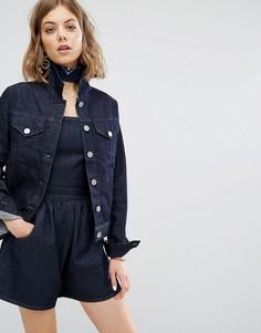 Приталенная джинсовая куртка Vale - Синий