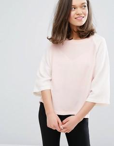 Двухцветная блузка Monki - Розовый