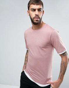 Ярусная футболка Hoxton Denim - Розовый