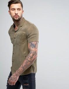 Рубашка с короткими рукавами из шелковистой ткани Religion - Зеленый