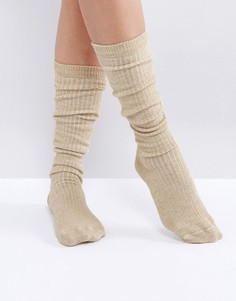 Носки в рубчик ASOS - Коричневый