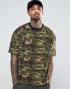 Oversize-футболка с камуфляжным принтом Kubban - Зеленый