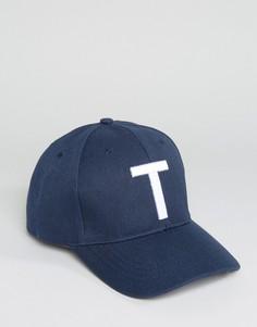 Бейсболка с буквой Т 7X - Темно-синий