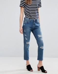 Узкие рваные джинсы бойфренда Waven Erika - Синий