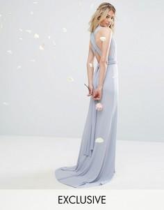 Платье-трансформер длины макси TFNC WEDDING - Синий