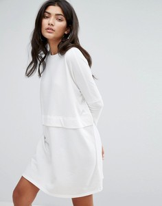 Трикотажное oversize-платье Daisy Street - Серый