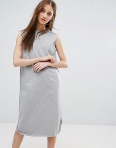 Платье-свитер без рукавов Weekday - Серый