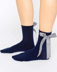 Носки с большим бантом ASOS - Темно-синий