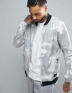 Спортивная ветровка с цветами Adidas - Белый