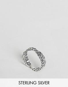 Серебренное кольцо в виде цепочки ASOS - Серебряный