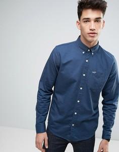 Темно-синяя оксфордская рубашка слим Hollister - Темно-синий