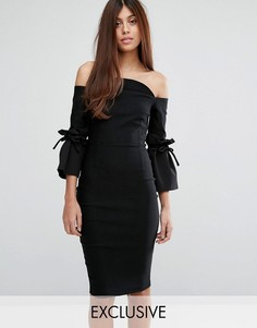 Платье-футляр с рукавами клеш Vesper - Черный