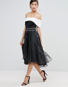 Эффектное платье с открытыми плечами Coast Carvina - Черный