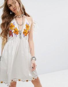 Платье Free People Love And Flowers - Белый