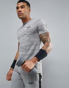 Серая обтягивающая футболка Muscle Monkey - Серый