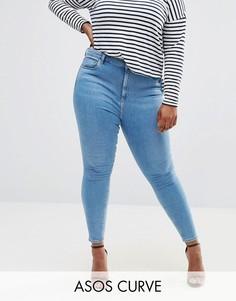 Светло-синие джинсы скинни ASOS CURVE RIDLEY - Синий