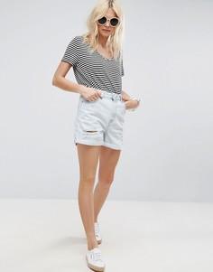 Рваные джинсовые шорты в винтажном стиле ASOS - Синий