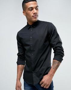 Черная рубашка классического кроя Solid - Черный