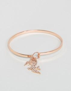 Манжетный браслет с украшением в виде ласточки ASOS - Золотой
