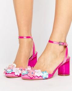 Туфли на каблуке с отделкой ASOS SHOW PIECE - Розовый