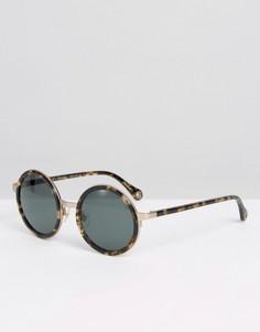 Круглые солнцезащитные очки Raen - Коричневый