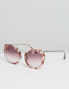 Градиентные солнцезащитные очки с металлической отделкой Raen - Розовый