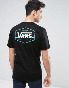 Черная футболка с принтом Vans VA312ZBLK - Черный