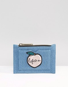 Джинсовый кошелек на молнии Lifes A Peach Skinnydip - Синий