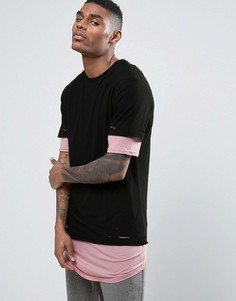 Длинная двухслойная футболка Cayler & Sons - Черный