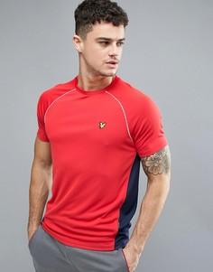 Красная футболка с контрастной сетчатой вставкой Lyle & Scott Fitness Kelly - Красный