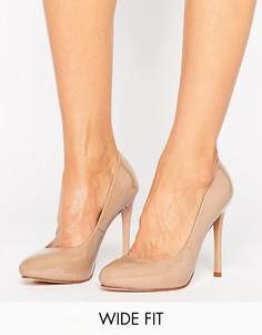 Туфли на каблуке для широкой стопы Faith Candy - Бежевый