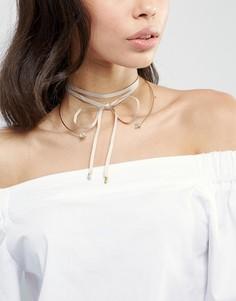 Ожерелье-чокер (золотистый/бежевый) Johnny Loves Rosie Aria - Золотой
