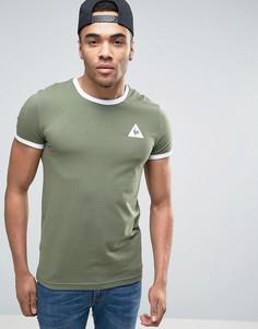 Зеленая футболка с контрастной отделкой Le Coq Sportif эксклюзивно для ASOS - Зеленый