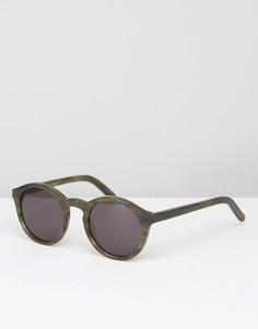Солнцезащитные очки в круглой зеленой оправе Monokel Barstow - Зеленый