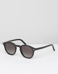 Черные круглые солнцезащитные очки Monokel - Черный