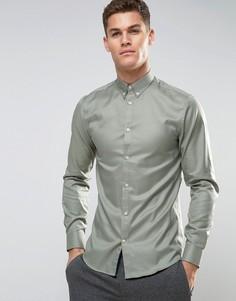 Рубашка узкого кроя Selected Homme - Зеленый