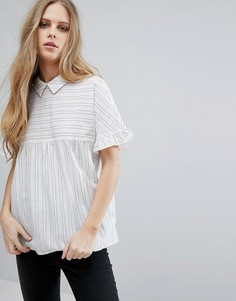 Блузка в полоску с короткими рукавами Vila - Мульти