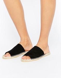 Замшевые сандалии-эспадрильи ASOS JEENA - Черный