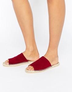 Замшевые сандалии-эспадрильи ASOS JEENA - Красный