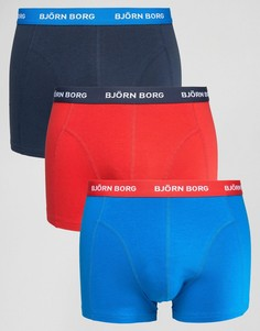 Темно-синие боксеры-брифы (3 шт.) Bjorn Borg - Темно-синий