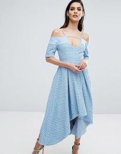 Кружевное платье с пышной юбкой The 8th Sign Hibiscus - Синий