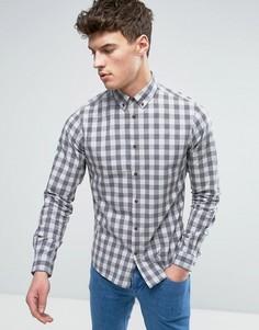 Рубашка классического кроя в клетку Solid - Серый