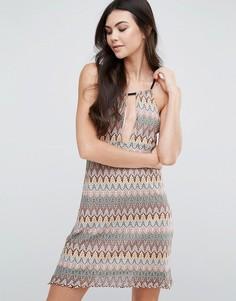 Цельнокройное платье-халтер Love & Other Things - Мульти